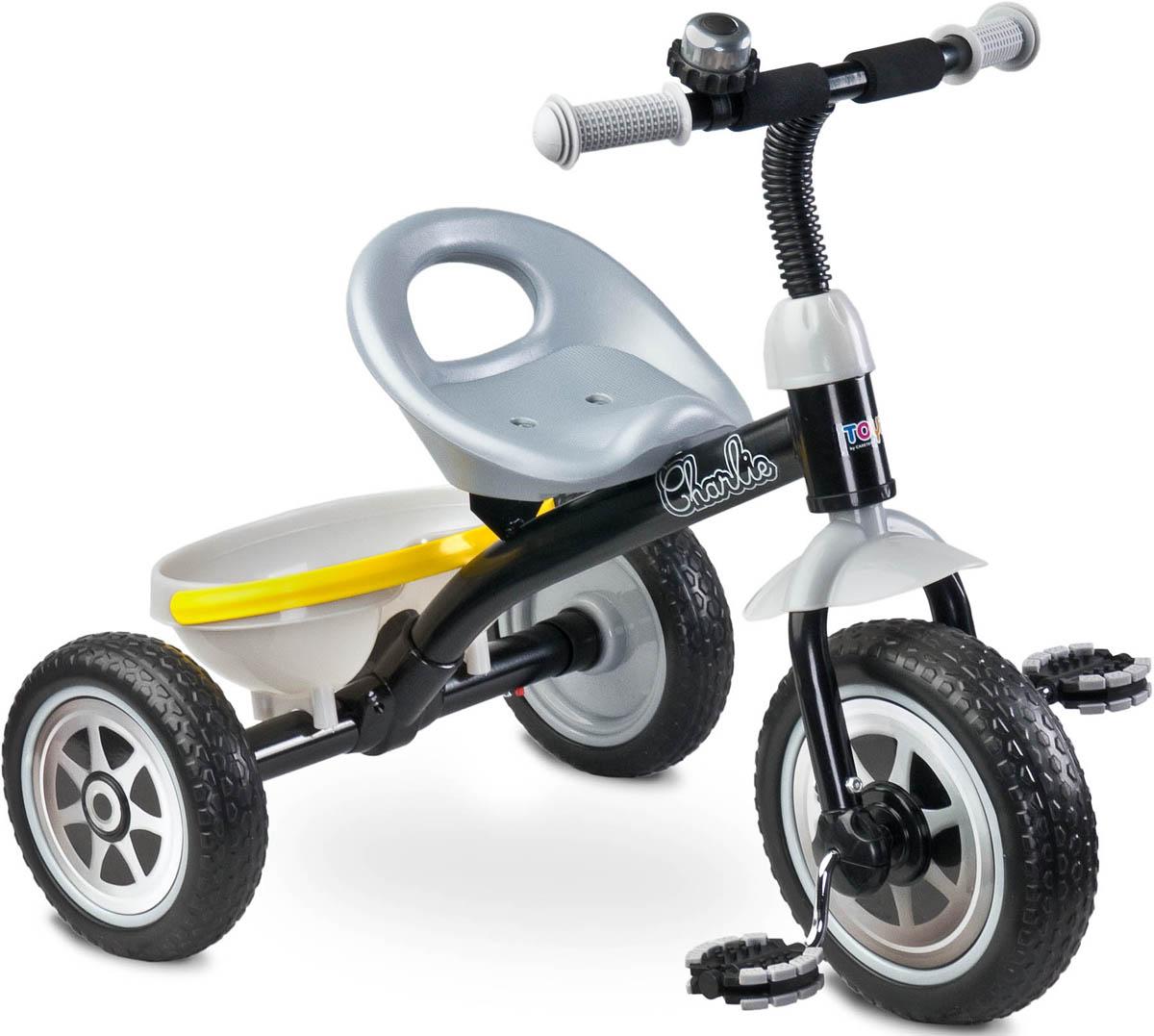 Caretero Велосипед трехколесный детский Charlie цвет серый