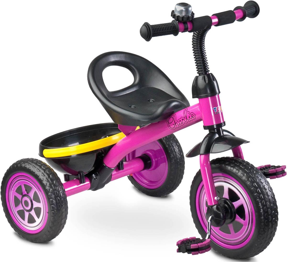 Caretero Велосипед трехколесный детский Charlie цвет фиолетовый