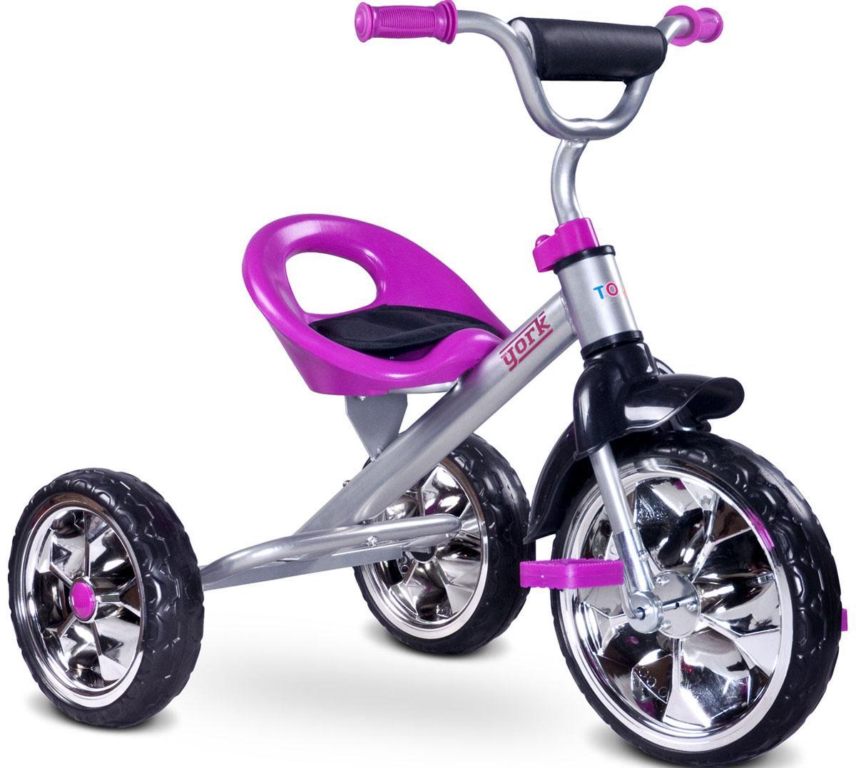 Caretero Велосипед трехколесный детский York цвет фиолетовый
