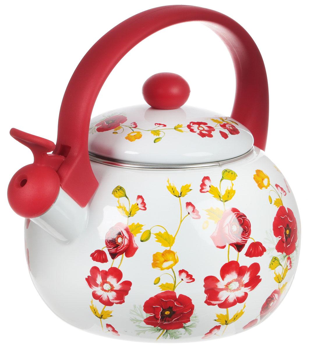 Чайник эмалированный Bohmann Чайная роза, со свистком, 2,5 л8142BH_чайная розаЧайник эмалированный Bohmann изготовлен изэмалированной стали и дополнен цветочным принтом.Прочность, надежность, стойкость к кислотам ипривлекательный внешний вид - основные свойства этогоматериала.Прочная фиксированная ручка, выполненная изтермостойкого пластика, не нагревается и обеспечиваеткомфортную эксплуатацию. Носик чайника оборудованоткидным свистком, который громким сигналом оповестит озакипании воды.Чайник подходит для газовых, электрических, галогеновых,индукционных, стеклокерамических плит. Можно мыть впосудомоечной машине. Диаметр (по верхнему краю): 11,5 см. Высота чайника (с учетом ручки): 20,5 см.