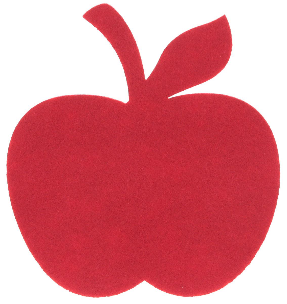 Подставка под горячее Marmiton Яблоко, цвет: красный, 11 х 11 см салфетка для сервировки стола marmiton термостойкая подставка складная marmiton красный 21 6х21 6х1 см