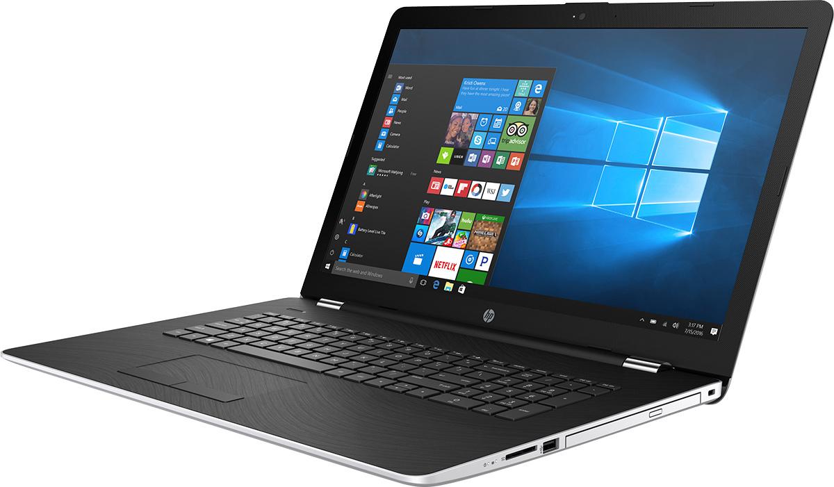 HP 17-bs031ur, Natural Silver (2CT42EA)495943Стильный ноутбук HP 17-bs031ur, помимо выполнения повседневных задач, поможет вам оставаться на связи весь день.Благодаря неизменно высокой производительности и длительному времени работы от аккумулятора вы можете с комфортом пользоваться Интернетом, вести потоковое вещание и оставаться на связи с нужными людьми.Новейший процессор Intel Core i3 восьмого поколения обеспечивает неизменно высокую производительность, которая необходима для работы и развлечений. Надежность и долговечность ноутбука позволят легко выполнять все необходимые задачи.Развлекайтесь и оставайтесь на связи с друзьями и семьей благодаря превосходному дисплею Full HD. Кроме того, с этим ноутбуком ваши любимые музыка, фильмы и фотографии будут всегда с вами.Превосходно спроектированный как изнутри, так и снаружи, этот ноутбук HP с экраном диагональю 43,9 см (17,3 дюйма) идеально подойдет для вашего образа жизни. Оригинальные узоры, уникальные текстуры и хромированное шарнирное соединение добавят немного цвета к серым будням.Взгляните по-новому на все, что вы делаете, благодаря потрясающим графическим возможностям. Intel HD Graphics обеспечивает высокое качества и яркие цвета отображения видео, веб-страниц и другого.ОЗУ играет ключевую роль при работе в многозадачном режиме и выполнении ресурсоемких приложений, например компьютерных игр и ПО для редактирования видео. Чем больше емкость ОЗУ, тем выше будет производительность.Точные характеристики зависят от модификации.Ноутбук сертифицирован EAC и имеет русифицированную клавиатуру и Руководство пользователя