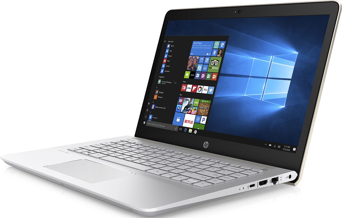 HP Pavilion 14-bk007ur, Silk Gold (2CV47EA)511859Делайте то, что нравится, и делитесь своими достижениями с помощью великолепных возможностей ноутбука HP Pavilion 14. Благодаря современному продуманному дизайну обновленный ноутбук Pavilion представляет собой превосходное сочетание производительности и стиля.Тонкие рамки позволяют вместить экран диагональю 35,6 см (14) в корпус диагональю 33,8 см (13,3) для удобного размещения где угодно.Благодаря автономной работе в течение 10 часов и зарядке аккумулятора на 90 % за 90 минут вам больше не нужно беспокоиться об экономии. Выполняйте задачи любой сложности и будьте уверены, что у вас останется достаточно заряда на любимые развлечения.Ноутбук подарит невероятно насыщенное и реалистичное звучание благодаря двум динамикам HP, технологии HP Audio Boost и профессиональной аудиосистеме, настроенной специалистами B&O PLAY. Живите в ритме любимой музыки.Процессор Intel Core 7-го поколения. Добейтесь высокой производительности и скорости работы системы и ее быстрой загрузки для исключительного удобства использования ПК. Благодаря поддержке разрешения до 4K можно не только смотреть потоковые трансляции в лучшем качестве, но и создавать свои.Память DDR4 - это будущее ОЗУ. Она отличается большей эффективностью, надежностью и скоростью работы. Расширение полосы пропускания способствует увеличению производительности всех процессов для эффективной работы в многозадачном режиме и высокой скорости обработки компьютерных игр.Точные характеристики зависят от модификации.Ноутбук сертифицирован EAC и имеет русифицированную клавиатуру и Руководство пользователя