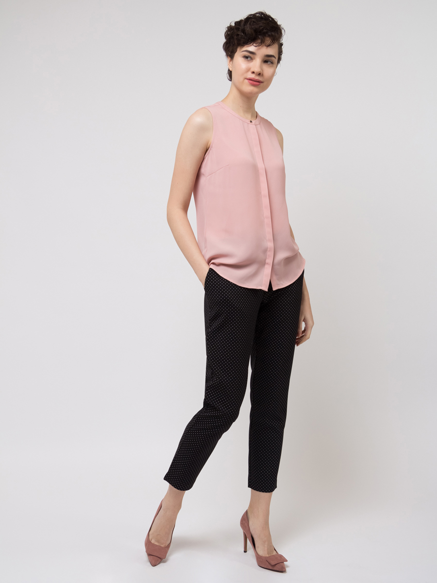Блузка женская Sela, цвет: светло-розовый. Bsl-112/272-8111. Размер 48 блузка женская sela цвет бежевая роза bsl 312 1147 7112 размер 48