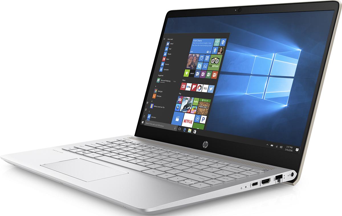 HP Pavilion 14-bf020ur, Silk Gold (2PV80EA)511876Делайте то, что нравится, и делитесь своими достижениями с помощью великолепных возможностей ноутбука HP Pavilion 14. Благодаря современному продуманному дизайну обновленный ноутбук Pavilion представляет собой превосходное сочетание производительности и стиля.Тонкие рамки позволяют вместить экран диагональю 35,6 см (14) в корпус диагональю 33,8 см (13,3) для удобного размещения где угодно.Благодаря автономной работе в течение 10 часов и зарядке аккумулятора на 90 % за 90 минут вам больше не нужно беспокоиться об экономии. Выполняйте задачи любой сложности и будьте уверены, что у вас останется достаточно заряда на любимые развлечения.Ноутбук подарит невероятно насыщенное и реалистичное звучание благодаря двум динамикам HP, технологии HP Audio Boost и профессиональной аудиосистеме, настроенной специалистами B&O PLAY. Живите в ритме любимой музыки.Процессор Intel Pentium. Добейтесь высокой производительности и скорости работы системы и ее быстрой загрузки для исключительного удобства использования ПК. Благодаря поддержке разрешения до 4K можно не только смотреть потоковые трансляции в лучшем качестве, но и создавать свои.Память DDR4 - это будущее ОЗУ. Она отличается большей эффективностью, надежностью и скоростью работы. Расширение полосы пропускания способствует увеличению производительности всех процессов для эффективной работы в многозадачном режиме и высокой скорости обработки компьютерных игр.Точные характеристики зависят от модификации.Ноутбук сертифицирован EAC и имеет русифицированную клавиатуру и Руководство пользователя