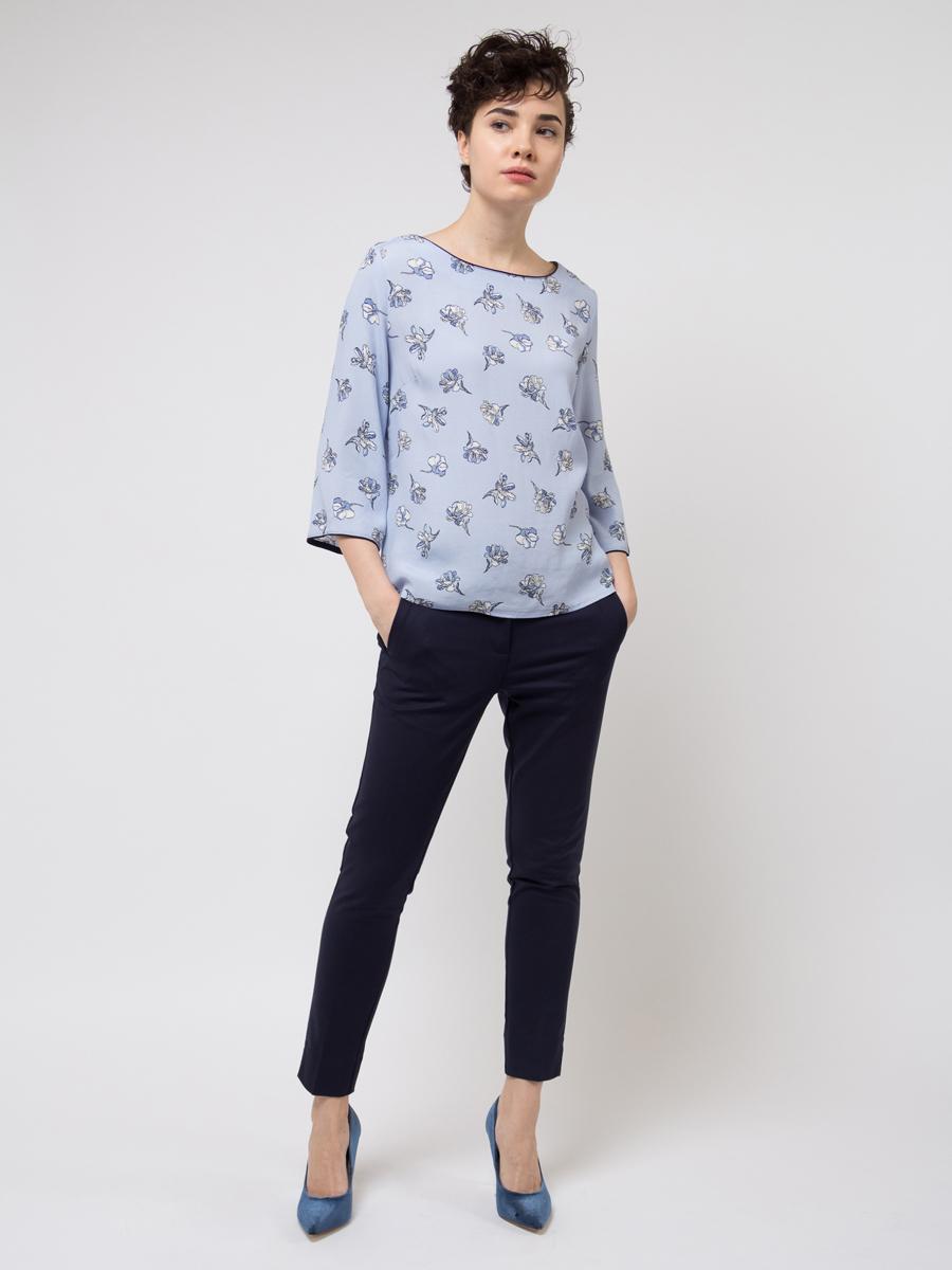 Брюки женские Sela, цвет: темно-синий. P-115/858-8110. Размер 46 брюки женские sela цвет темно синий p 115 201 8122 размер 48