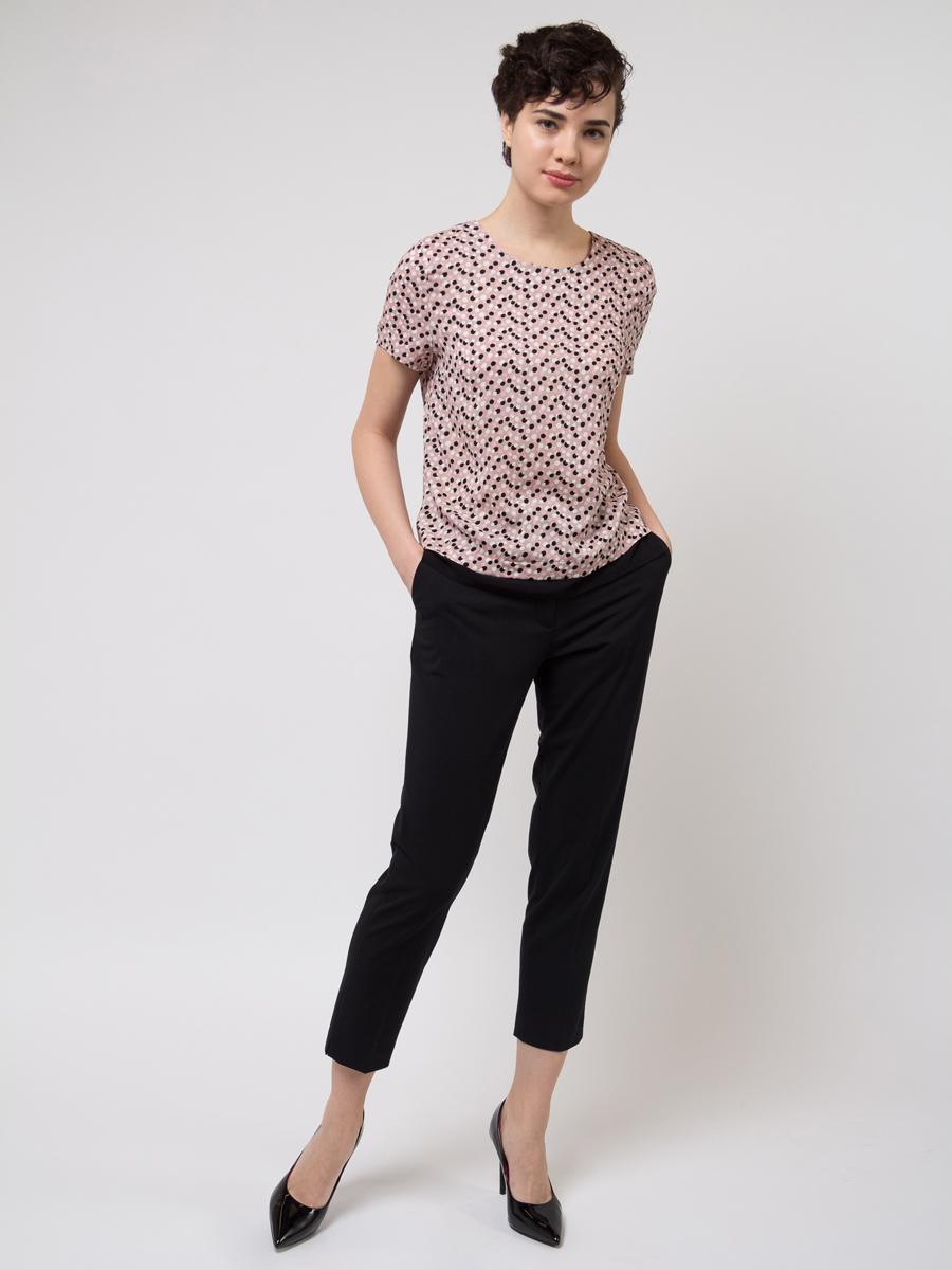 Брюки женские Sela, цвет: черный. P-115/859-8121. Размер 48 брюки sela брюки