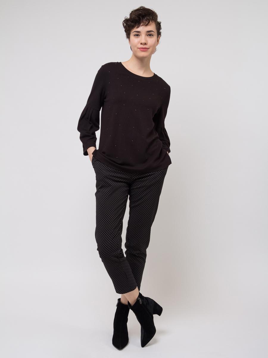 Джемпер женский Sela, цвет: черный. T-111/1083-8121. Размер XS (42) цены онлайн