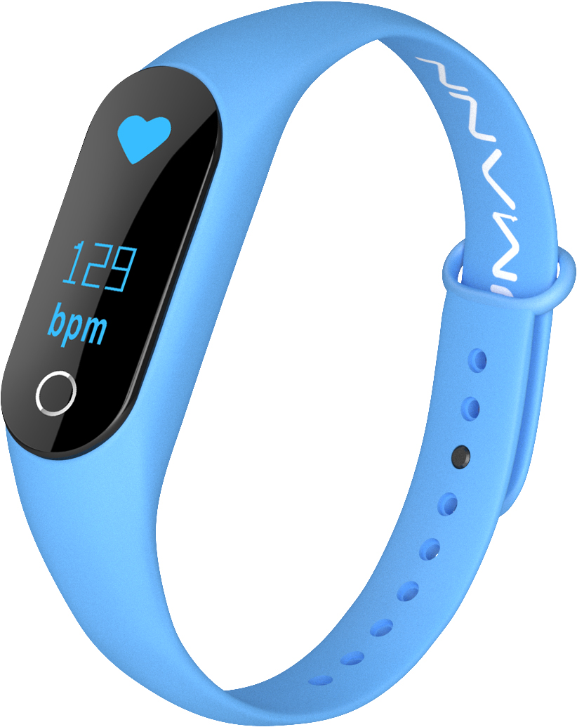 Qumann QSB 08+ Blue, фитнес-браслет - Фитнес-браслеты и шагомеры