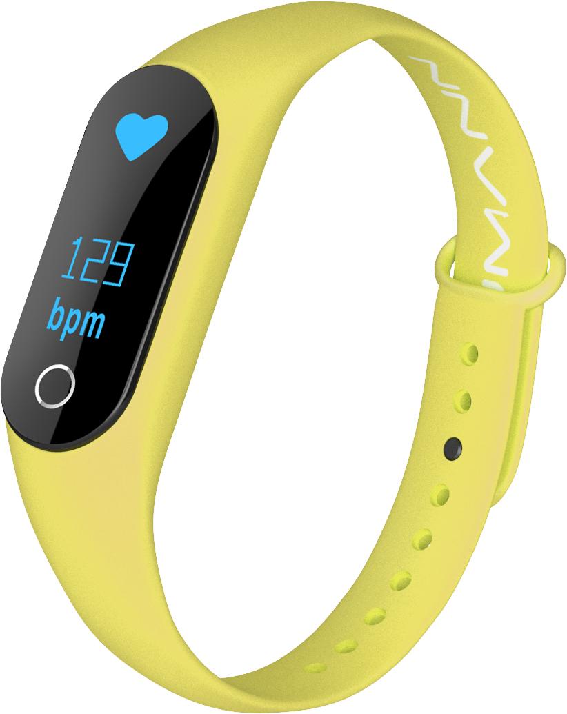 Qumann QSB 08+ Yellow, фитнес-браслет