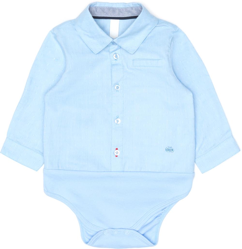 Боди с длинным рукавом для мальчика Maloo by Acoola Corteza, цвет: голубой. 22154230001_400. Размер 86 боди и песочники maloo комбинезон детский maserati