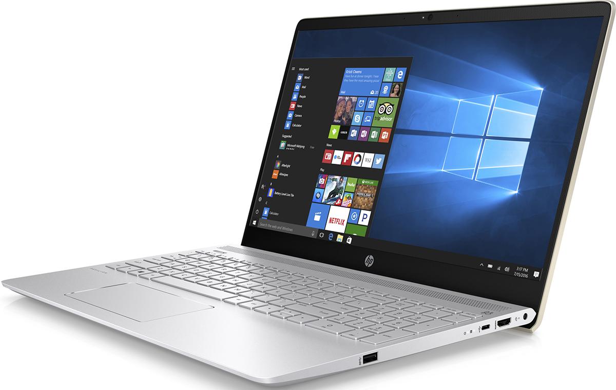 HP Pavilion 15-ck005ur, Silk Gold (2PP68EA)512287Ноутбук HP Pavilion 15-ck005ur сочетает все преимущества настольного ПК в компактном корпусе. Потрясающий звук и четкий Full HD дисплей - это лишь часть тех преимуществ, которые оставляют незабываемые впечатления от использования этого компьютера.Используйте по максимуму весь функционал Windows на кристально чистом экране с качеством Full HD, оптимизированном для Windows 10. Четкое изображение, с которым вы не упустите ни одну деталь - даже при плохом освещении. Наслаждайтесь живым общением благодаря веб-камере HP Wide Vision Full HD.С помощью производительного процессора от Intel можно выполнять любые задачи. Создавайте великолепные визуальные материалы, не замедляя работу ноутбука, благодаря дискретной графической карте GeForce 940MX. Благодаря модулю беспроводной связи с сертификацией Wi-Fi общаться с коллегами по Интернету и электронной почте можно не только в офисе, но и в любом другом месте с точкой доступа.Встроенные динамики обеспечивают превосходное качество звучания. С помощью разъема HDMI можно подключить ноутбук к большому HD-монитору, что особенно удобно для показа презентаций.Используйте 25 Гбайт Dropbox для хранения и синхронизации файлов. Храните фотографии, музыку и другие файлы и делитесь ими в любом месте, где есть доступ в Интернет, в течение года.Точные характеристики зависят от модификации.Ноутбук сертифицирован EAC и имеет русифицированную клавиатуру и Руководство пользователя