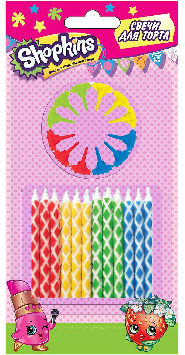 Shopkins Набор свечей с держат 6 см 24 шт universal миньоны набор свечей с держателями 24 шт