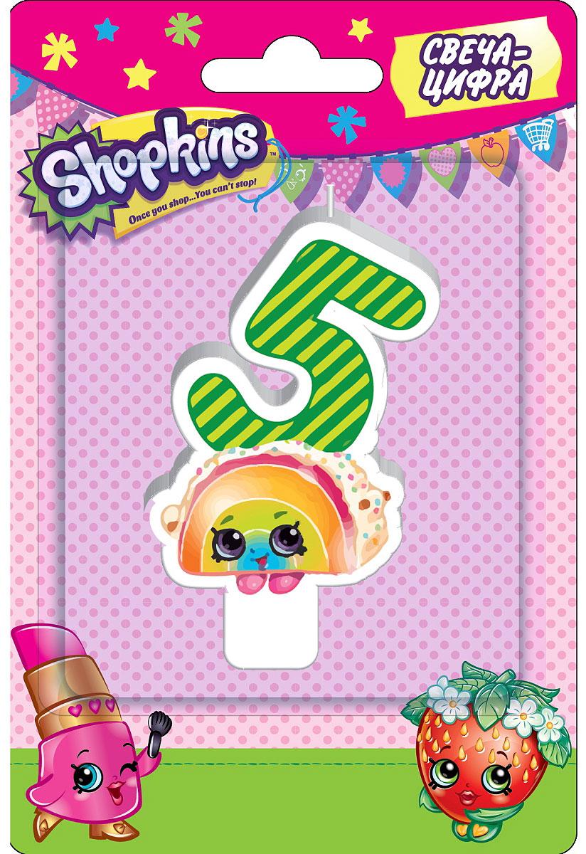 Shopkins Свеча-цифра 5 игровые наборы shopkins игровой набор веселая кухня