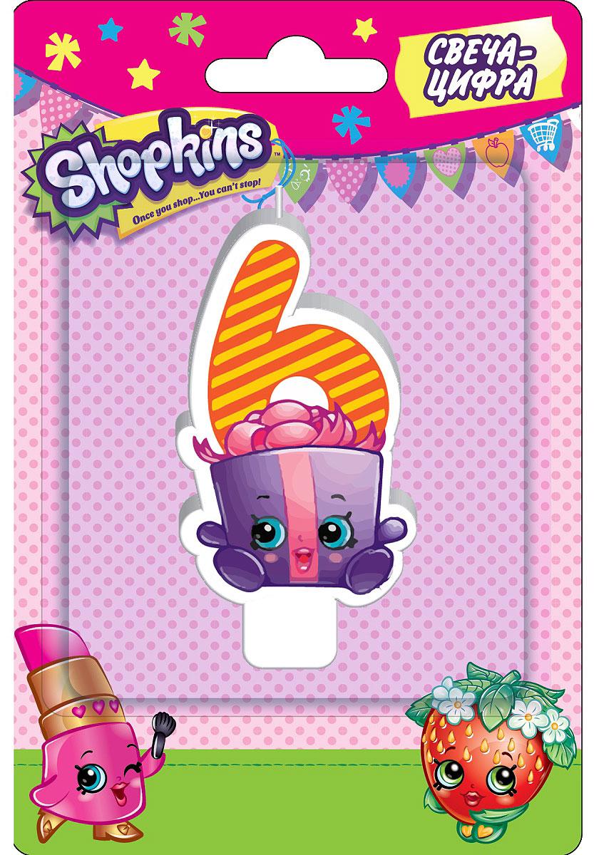 Shopkins Свеча-цифра 6 игровые наборы shopkins игровой набор веселая кухня