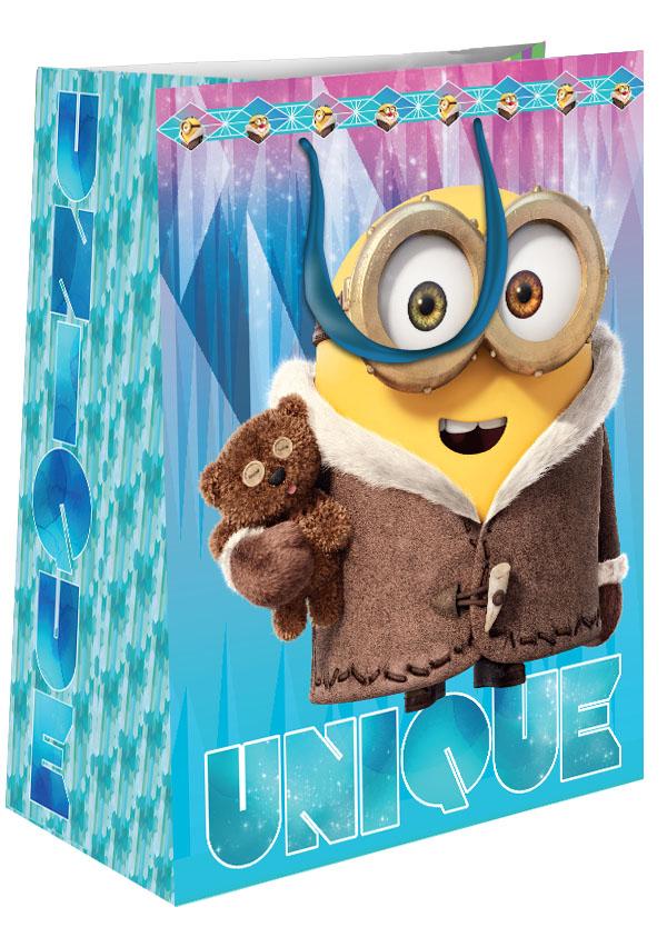 Universal Миньоны Пакет подарочный Зимний Миньон 18*10*23 см -  Аксессуары для детского праздника