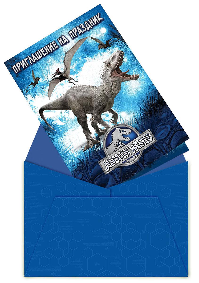 Universal Парк Юрского периода Приглашение в конверте 6 шт -  Аксессуары для детского праздника