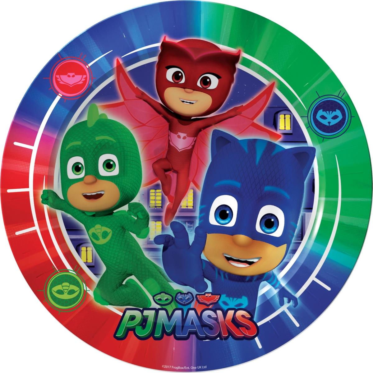 Герои в масках Набор тарелок 6 шт 18 см бумажные герои