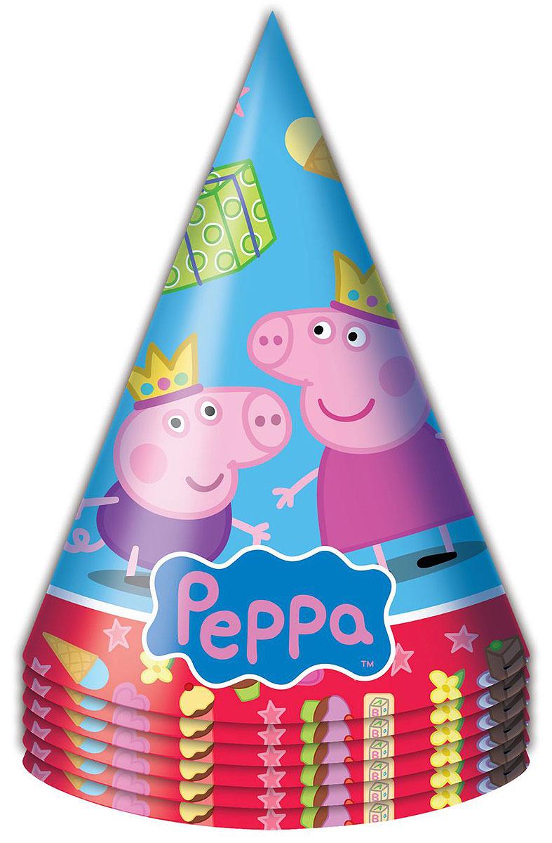 Свинка Пеппа Набор колпаков Пеппа-принцесса 6 шт -  Колпаки и шляпы