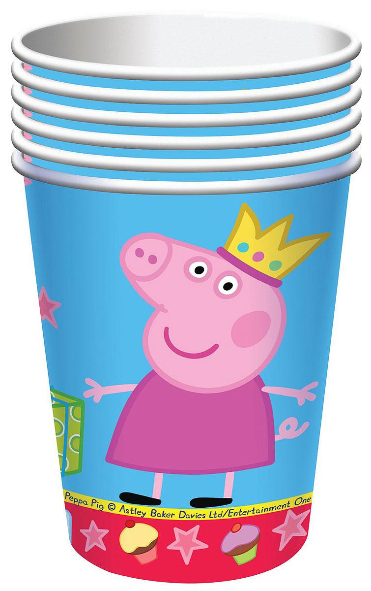 Свинка Пеппа Набор стаканов Пеппа-принцесса 6 шт набор посуды для детей stor свинка пеппа