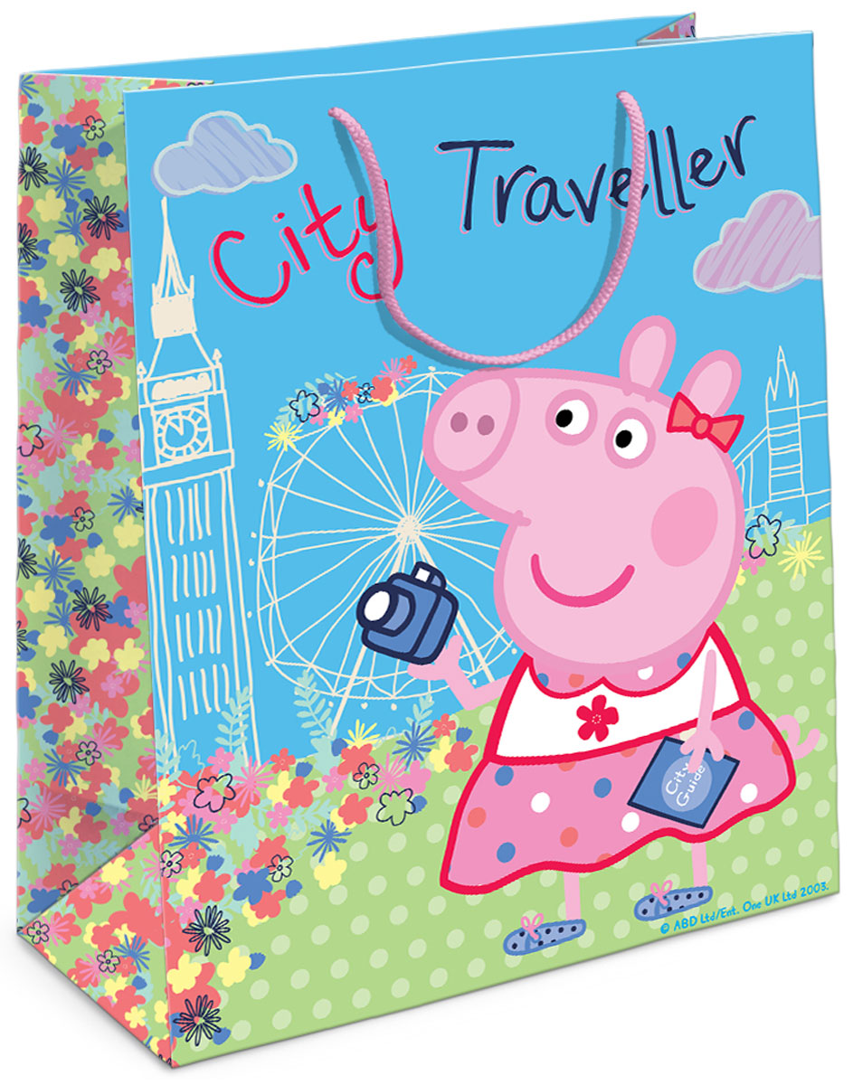 Свинка Пеппа Пакет подарочный Пеппа на каникулах -  Аксессуары для детского праздника