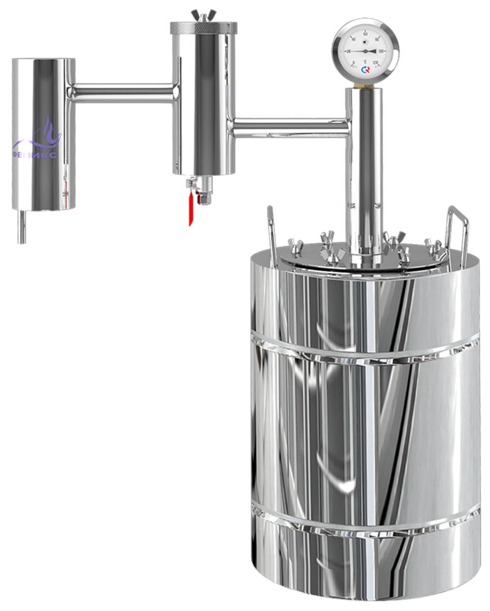 Феникс Народный дистиллятор, 20 л дистиллятор проточный феникс хозяин с разборным сухопарником 12 литров