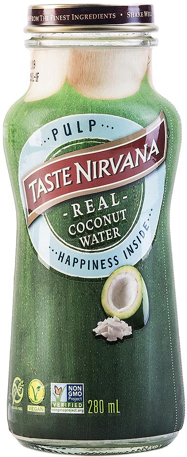 Taste Nirvana Вода кокосовая с мякотью кокоса, 280 мл.011259806886Знаменитая дельта Мае Клонг снабжает многочисленные семейные плантации большим количеством воды. Благодаря идеальному сочетанию речной и морской воды, кокосы здесь больше и слаще, чем в других регионах Тайланда. Они зреют в первозданных условиях, без ГМО и химии. Именно здесь расположена наша семейная фабрика Taste Nirvana. Каждый день мы выбираем лучшие кокосы и бережно сохраняем их сок в наших бутылочках, чтобы в любой момент вы смогли утолить жажду свежестью натуральной и очень полезной кокосовой воды, а не искусственным вкусом других напитков. Полезные свойства: -Замедляет процесс старения . -Повышает умственную деятельность и концентрацию внимания. -Повышает выносливость и восстанавливает силы при физических нагрузках. -Выводит токсины из организма. -Способствует снижению веса. -Бодрит и повышает настроение. - Подавляет чувство голода. -Повышает иммунитет. -Уменьшает риск развития раковых заболеваний. -Устраняет алкогольный абстинентный синдром. -Повышает уровень кислорода в крови. -Ускоряет процессы метаболизма.
