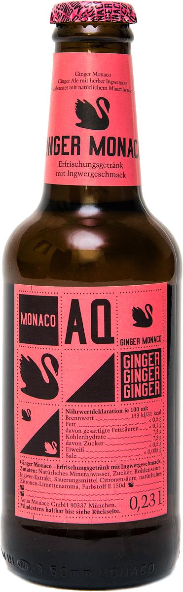 Ginger Monaco Имбирный Лимонад на основе природной минеральной воды, 230 мл4260322150067Ginger Monaco - это наш классический имбирный эль. Рецептура аромата основывается на пикантной нотке имбиря. В сочетании с природной минеральной водой Aqua Monaco, отличающейся высоким содержанием углекислого газа и идеальным соотношением сладкого и кислого вкусов, получается приятный газированный напиток с травяным ароматом, который можно как употреблять отдельно, так и использовать при приготовлении коктейлей.Предлагаем вам рецепты восхитительных алкогольных коктейлей на основе Ginger Monaco, которые любой желающий может приготовить в домашних условиях:Horses Neck:- 50 мл Бурбона- 1 бутылка Ginger Monaco- Апельсиновая цедраGin and Ginger:- 40 мл Джина- 1 бутылка Ginger Monaco- Апельсиновая цедра