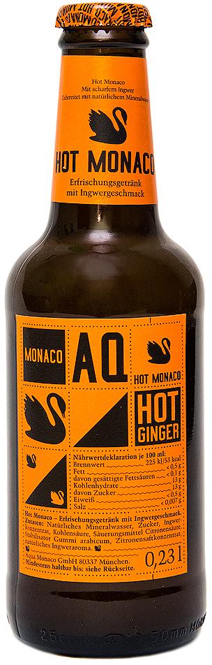 Hot Monaco Имбирь Лимонад на основе природной минеральной воды, 230 мл4260322150197Hot Monaco - это наш супер-острый имбирный эль. Остроту напитку придает сок корня имбиря. Попробовав отдельно или со льдом, Hot Monaco больше ни с чем не спутаешь. Благодаря своему яркому характеру Hot Monaco может быть равноправным партнером крепких напитков с интенсивным вкусом, таких как ром или бурбон.Предлагаем Вам рецепты восхитительных алкогольных коктейлей на основе Hot Monaco, которые любой желающий может приготовить в домашних условиях: Moscow Mule:- 40 мл водки- 10 мл лимонного сока- 1 бутылка Hot Monaco- долька огурца- долька лимонаDark and Stormy:- 40 мл рома- 10 мл сока лайма- 1 бутылка Hot Monaco