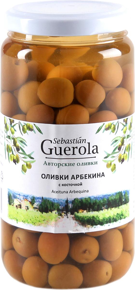 Guerola Оливки сорта Арбекина с косточкой, 370 г guerola оливки сорта арбекина с косточкой 370 г
