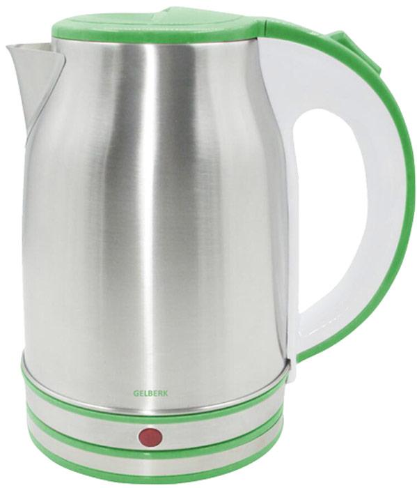 Gelberk GL-327, Silver Green чайник электрический - Чайники