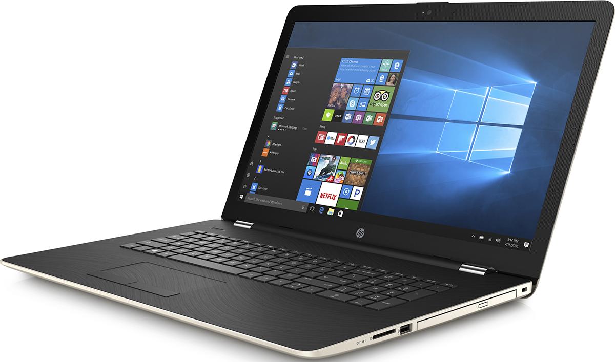HP 17-bs059ur, Silk Gold (2YL31EA)518988Стильный ноутбук HP 17-bs059ur, помимо выполнения повседневных задач, поможет вам оставаться на связивесь день.Благодаря неизменно высокой производительности и длительному времени работы от аккумуляторавы можете с комфортом пользоваться Интернетом, вести потоковое вещание и оставаться на связи с нужнымилюдьми.Новейший процессор Intel Core i5 восьмого поколения обеспечивает неизменно высокую производительность,которая необходима для работы и развлечений. Надежность и долговечность ноутбука позволят легковыполнять все необходимые задачи.Развлекайтесь и оставайтесь на связи с друзьями и семьей благодаря превосходному дисплею Full HD. Крометого, с этим ноутбуком ваши любимые музыка, фильмы и фотографии будут всегда с вами.Превосходно спроектированный как изнутри, так и снаружи, этот ноутбук HP с экраном диагональю 43,9 см (17,3дюйма) идеально подойдет для вашего образа жизни. Оригинальные узоры, уникальные текстуры ихромированное шарнирное соединение добавят немного цвета к серым будням.Взгляните по-новому на все, что вы делаете, благодаря потрясающим графическим возможностям. AMD Radeon520 обеспечивает высокое качества и яркие цвета отображения видео, веб-страниц и другого.ОЗУ играет ключевую роль при работе в многозадачном режиме и выполнении ресурсоемких приложений,например компьютерных игр и ПО для редактирования видео. Чем больше емкость ОЗУ, тем выше будетпроизводительность.Точные характеристики зависят от модификации.Ноутбук сертифицирован EAC и имеет русифицированную клавиатуру и Руководство пользователя