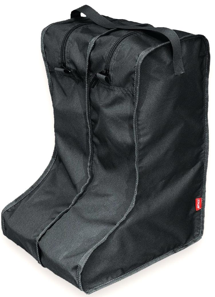 Чехол для сапог Tplus, цвет: черный. Размер 42-47. T014126T014126Каждый сапог помещается в отдельную секцию на молнии, в одном органайзере - одна пара обуви.Эстетично и практично!