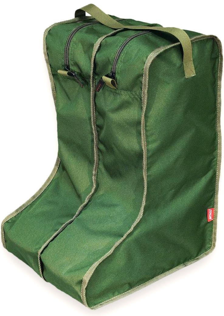 Чехол для сапог Tplus, цвет: темно-зеленый. Размер 42-47. T014128T014128Каждый сапог помещается в отдельную секцию на молнии, в одном органайзере - одна пара обуви.Эстетично и практично!