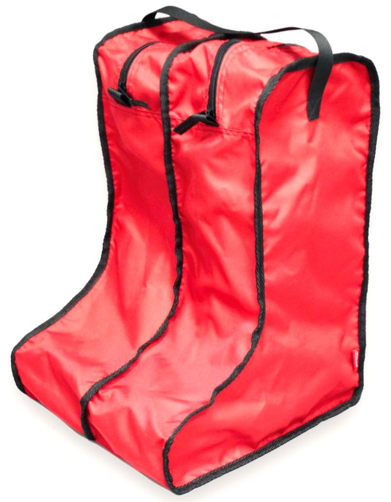 Чехол для сапог Tplus, цвет: красный. Размер 42-47. T014129T014129Каждый сапог помещается в отдельную секцию на молнии, в одном органайзере - одна пара обуви.Эстетично и практично!