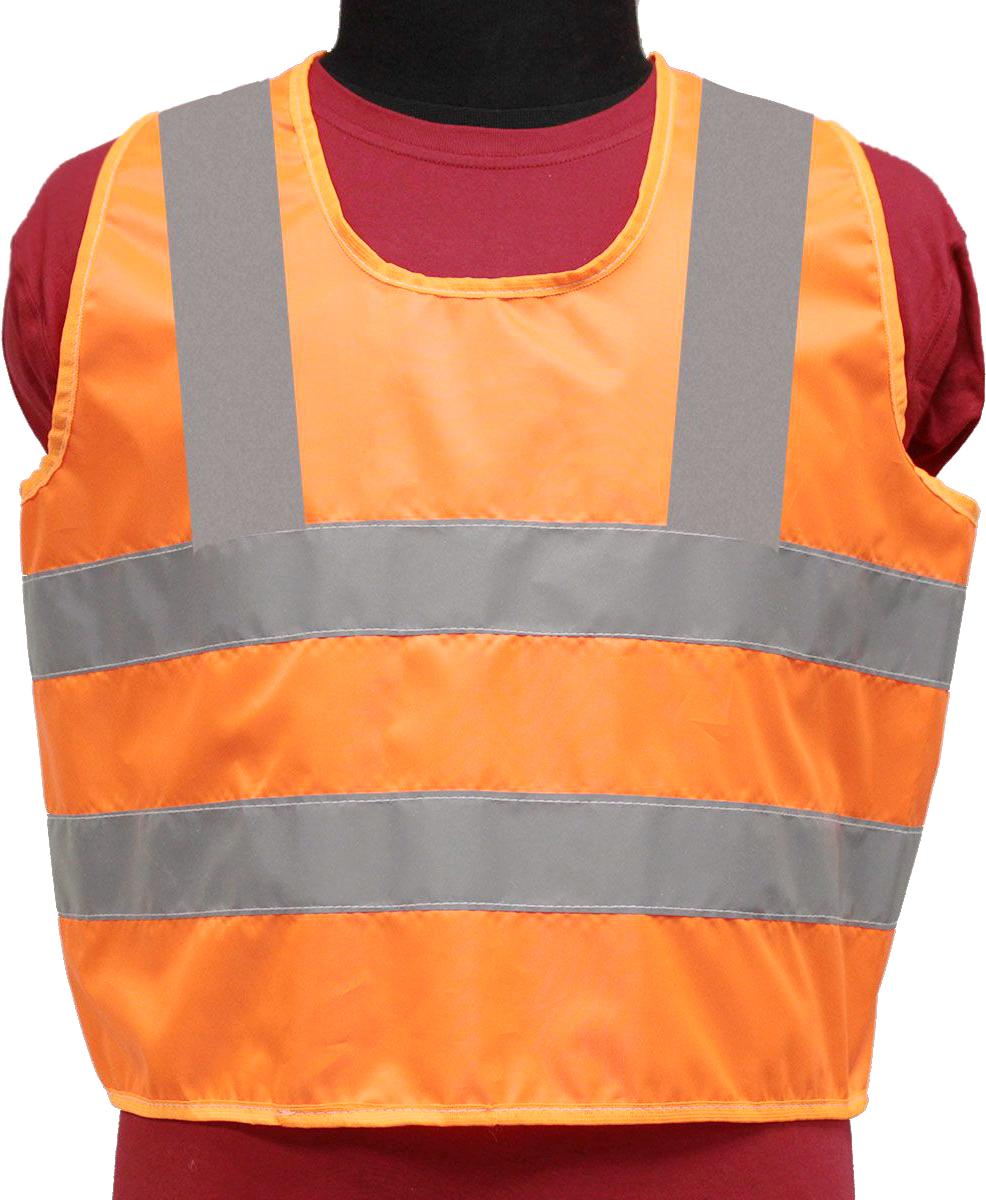 Жилет светоотражающий Tplus, детский, цвет: оранжевый, серый, возраст 3-6 летT014346Жилеты сигнальные (светоотражающие) способствуют снижению риска травматизма на дорогах посредством визуального обозначения человекаднем и обеспечения его видимости в темноте.Размер: для детей от 3 до 6 лет Материал: оксфорд 210 Сигнал 150 гр\м2 Цвет: оранжевый Ширина световозвращающей ленты: 50 мм Соответсвует ПДД Класс защиты: 3 (увеличенная площадь отражающих элементов)