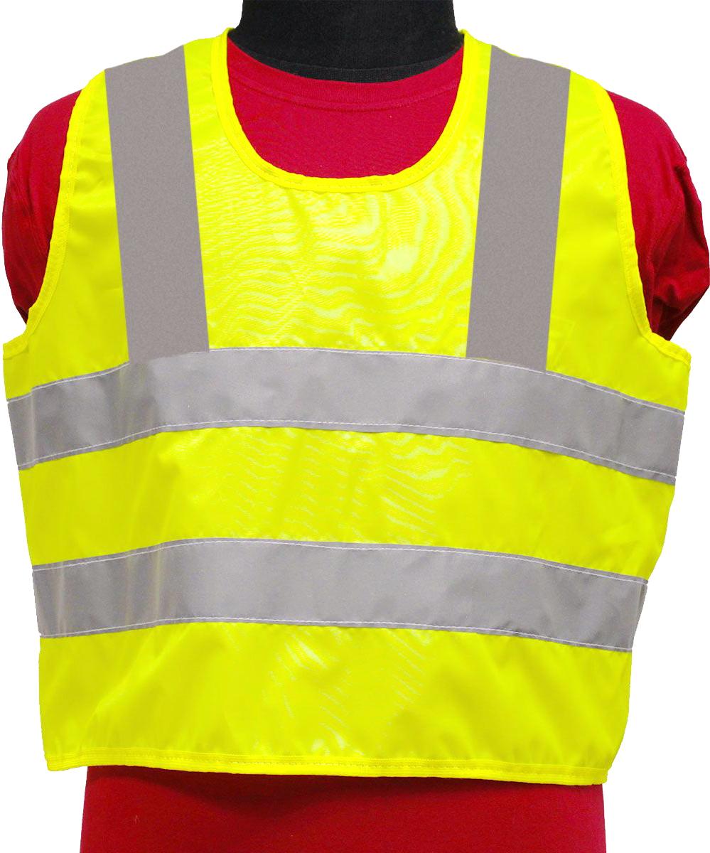 Жилет светоотражающий Tplus, детский, возраст 7-12 летT014349Жилеты сигнальные (светоотражающие) способствуют повышению безопасности сотрудника на производстве и снижению риска травматизма на дорогах посредством визуального обозначения человека днем и обеспечения его видимости в темноте.Размер: для детей от 7 до 12 летМатериал: оксфорд 210 Сигнал 150 гр\м2Цвет: лимонШирина световозвращающей ленты: 50 ммСоответсвует ПДДКласс защиты: 3 (увеличенная площадь отражающих элементов)