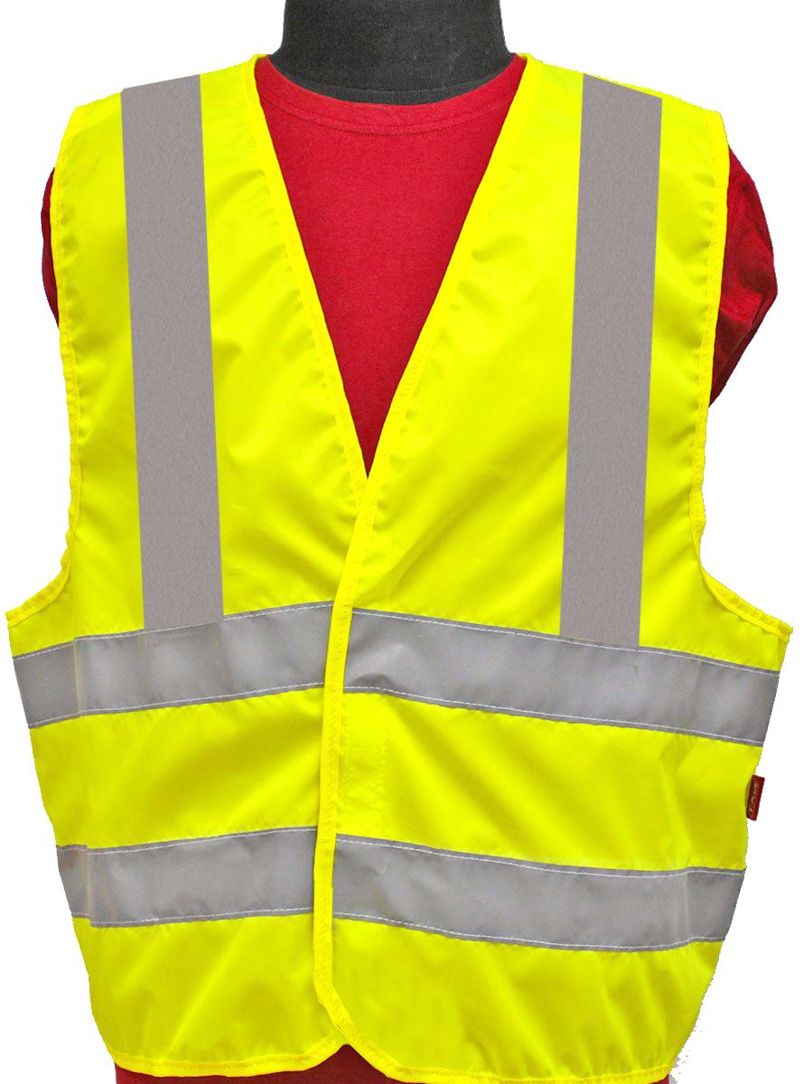 Жилет светоотражающий Tplus, класс защиты 3. Размер 52-54T014353Жилеты сигнальные (светоотражающие) способствуют повышению безопасности сотрудника на производстве и снижению риска травматизма на дорогах посредством визуального обозначения человека днем и обеспечения его видимости в темноте.Размер: 52-54Материал: оксфорд 210 Сигнал 150 гр\м2Цвет: лимонШирина световозвращающей ленты: 50 ммТип фиксации: двухсторонняя липучкаСоответсвует ГОСТ 12.4.281-2014Класс защиты: 3 (увеличенная площадь отражающих элементов)