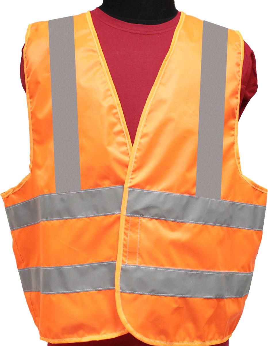 Жилет светоотражающий Tplus, класс защиты 2, цвет: оранжевый. Размер 56-58T014354Жилеты сигнальные (светоотражающие) способствуют повышению безопасности сотрудника на производстве и снижению риска травматизма на дорогах посредством визуального обозначения человека днем и обеспечения его видимости в темноте.Размер: 56-58 Материал: оксфорд 210 Сигнал 150 гр\м2 Цвет: оранжевый Ширина световозвращающей ленты: 50 мм Тип фиксации: двухсторонняя липучка Соответсвует ГОСТ 12.4.281-2014 Класс защиты: 3 (увеличенная площадь отражающих элементов)