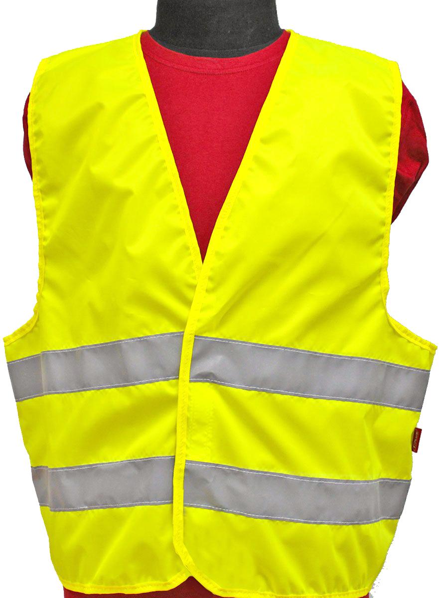"Жилет светоотражающий ""Tplus"", класс защиты 2, цвет: желтый. Размер 60-62"