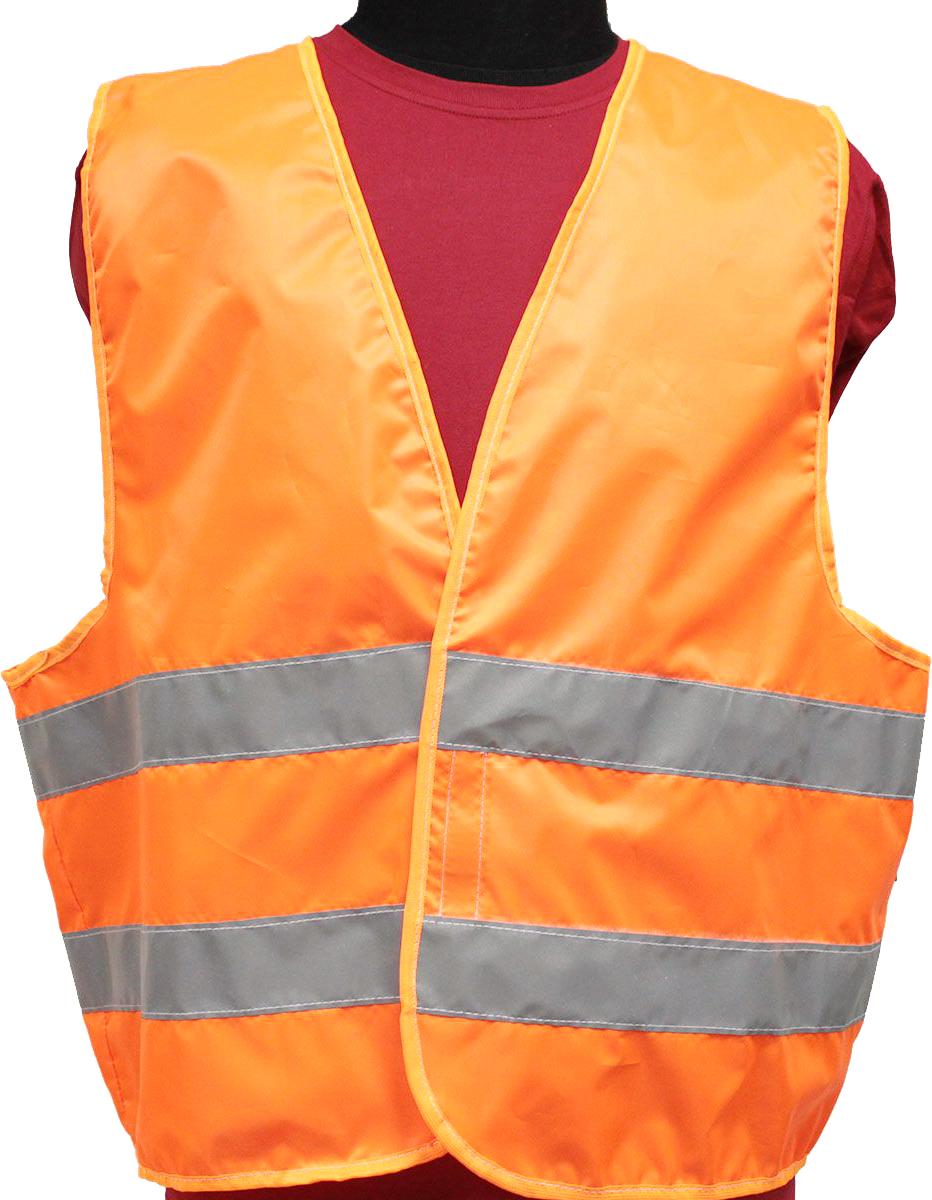 Жилет светоотражающий Tplus, класс защиты 2, цвет: оранжевый, размер 60-62T014389Жилеты сигнальные (светоотражающие) способствуют повышению безопасности сотрудника на производстве и снижению риска травматизма на дорогах посредством визуального обозначения человека днем и обеспечения его видимости в темноте.Размер: 60-62 Материал: оксфорд 210 Сигнал 150 гр\м2 Цвет: оранжевый Ширина световозвращающей ленты: 50 мм Тип фиксации: двухсторонняя липучка Соответсвует ГОСТ 12.4.281-2014 Класс защиты: 2 (повышенной видимости)