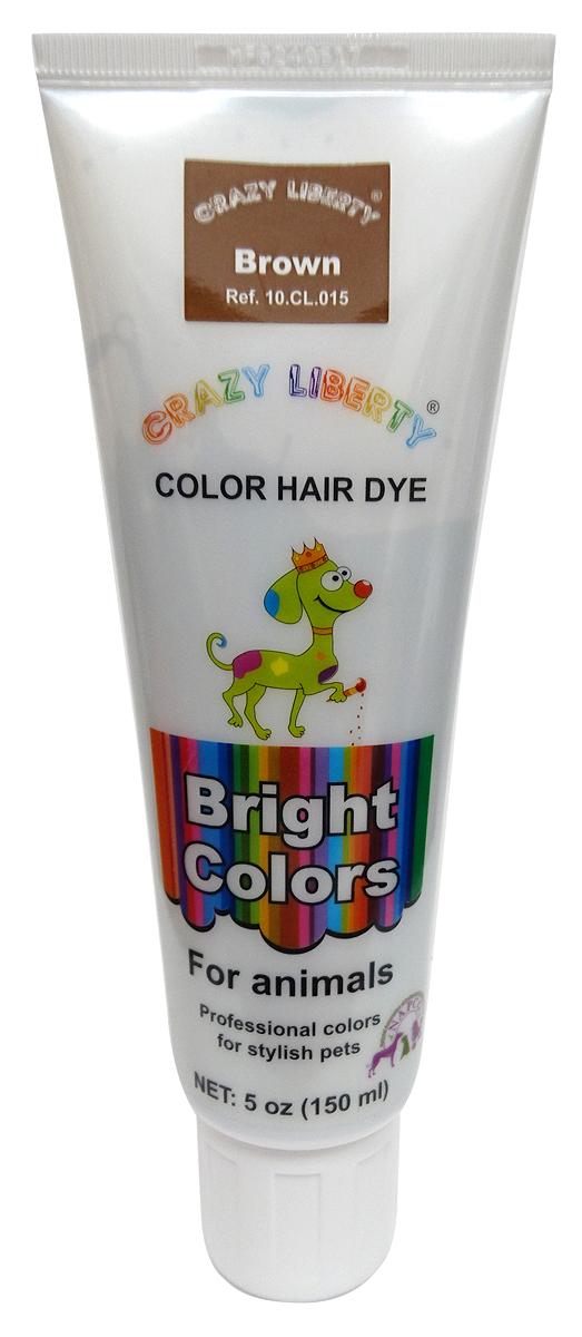 Краска для животных  Crazy Liberty , цвет: коричневый, 150 мл - Средства для ухода и гигиены