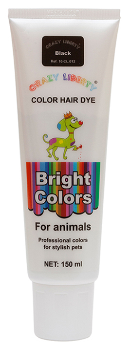 Краска для животных  Crazy Liberty , цвет: темно-черный, 150 мл - Средства для ухода и гигиены