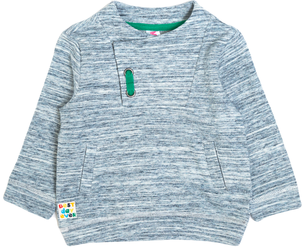 Свитшот для мальчика Maloo by Acoola Sapho, цвет: серый меланж. 22150100022_8000. Размер 86 джинсы для мальчика maloo by acoola lowe цвет синий 22150160019 500 размер 86