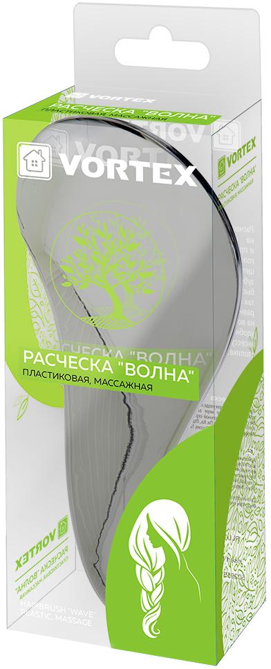 Vortex Расческа массажная Волна, пластиковая, 18,5 x 7 x 3,5 см51036Описание: расческа быстро и безболезненно распутывает узлы на непослушных волосах, разглаживает пряди и придает им блеск, обеспечивая деликатный массаж головы и улучшая кровообращение с помощью щетинок разной длины. Оригинальная форма зубчиков обеспечивает двойное действие, и позволяет быстро и безболезненно расчесать как влажные, так и сухие волосы. С помощью этой расчески можно равномерно нанести маску, бальзам или сыворотку на волосы, а благодаря эргономичной форме расческа удобно лежит в руке и не выскальзывает. Этот стильный аксессуар займет достойное место на вашем туалетном столике.Срок годности: не ограничен. Материал: пластмасса.