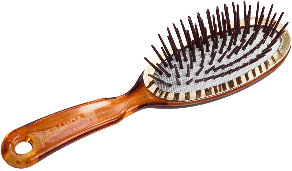 Vortex Расческа массажная Овал, пластиковая, с пластиковыми зубчиками, 17,7 см51051Гладкая поверхность расчески не повреждает волосы при расчесывании. Удобная ручка не выскальзывает из рук. Благодаря оригинальному дизайну расческу можно использовать как для расчесывания, так и для укладки. Подходит для всех типов волос вне зависимости от длины.Срок годности: не ограничен. Материал: пластик, резина.