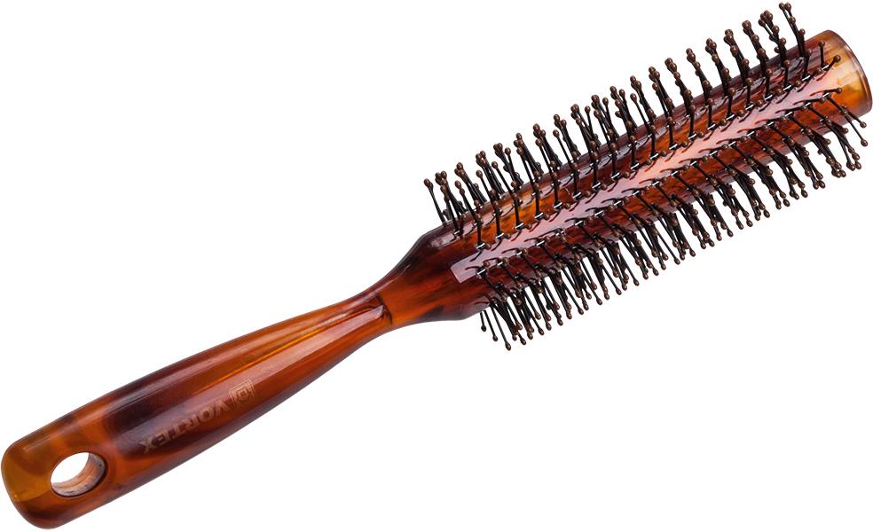 Vortex Расческа массажная, пластиковая, брашинг, с пластиковыми зубчиками, 4,3 см51053Гладкая поверхность расчески не повреждает волосы при расчесывании. Удобная ручка не выскальзывает из рук. Благодаря оригинальному дизайну расческу можно использовать как для расчесывания, так и для укладки. Подходит для всех типов волос вне зависимости от длины.Срок годности: не ограничен. Материал: пластик.