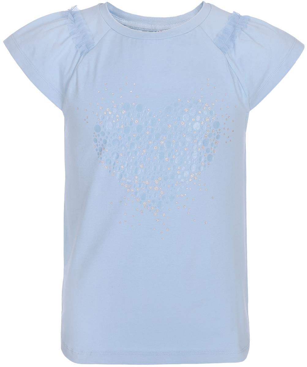Блузка для девочки Cherubino, цвет: голубой. CAJ 61684. Размер 158 платье для девочки cherubino цвет голубой caj 61687 размер 146