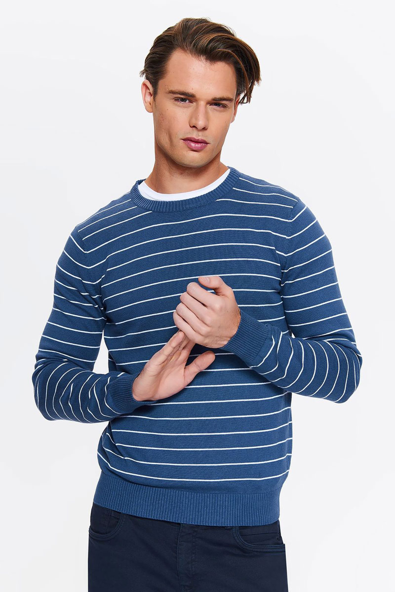 Свитер мужской Top Secret, цвет: синий. SSW2257NIS. Размер XXL (52) свитер quelle top secret 1018927