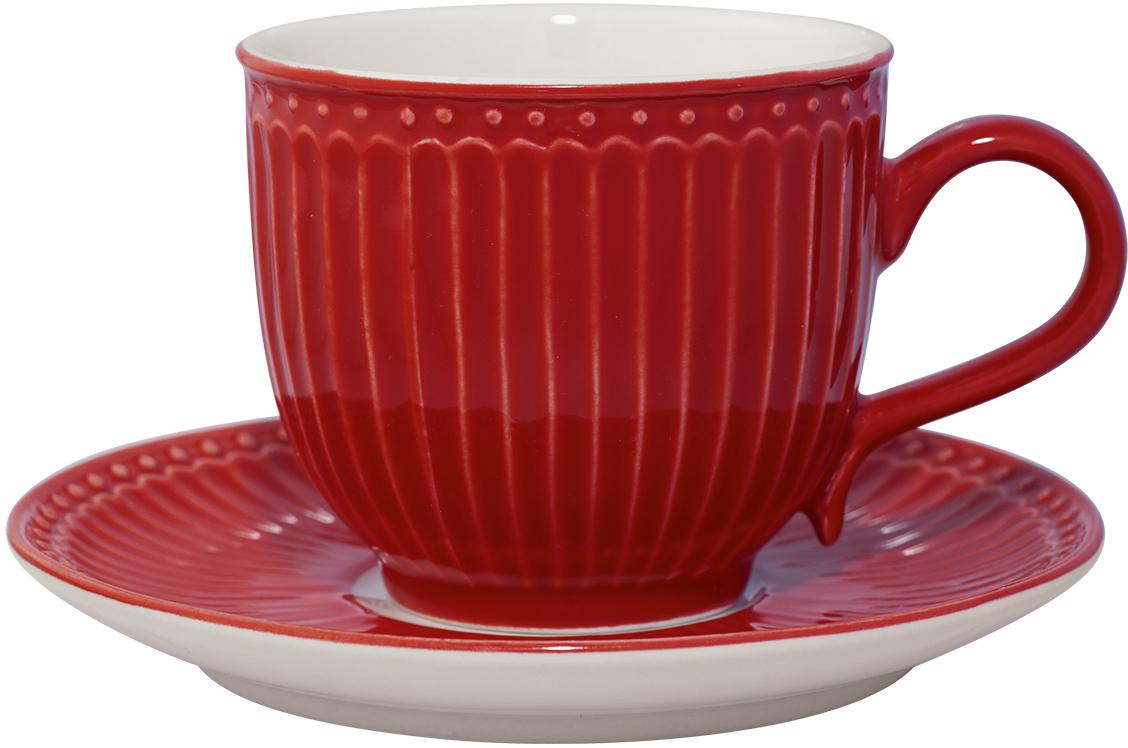 Чайная пара Alice, цвет: красный, 2 предметаSTWCUPSAALI1006GreenGate- это широко известная во всем мире компания, которая с 2001 года производит потрясающую по красотеколлекционную посуду.